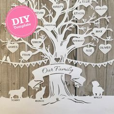 Trace Your Family Using the Free Family Tree Template Word Making a family tree can be more comfortable when you use the free family tree template word. Diy Family Tree Project, Family Tree Art, Free Family Tree, Family Tree Gifts, Crafts Beautiful, Beautiful Family, Paper Cutting, Paper Tree, Tree Designs