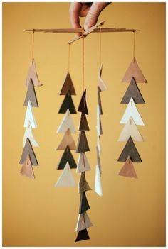 DIY Leather Triangles Mobile #duststudios