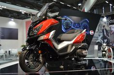 SYM from Taiwan introduced the new 300 cc Cruisym scooter at Intermot 2016