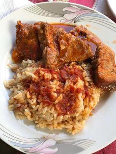 Greek Recipes, Fried Rice, Fries, Meat, Chicken, Ethnic Recipes, Food, Essen, Greek Food Recipes
