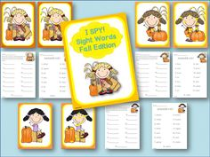 I Spy is a great way to get students actively involved in their learning. Students use a magnifying glass to locate 15 DOLCH FIRST GRADE SIGHT WORDS hidden in the fall picture and write them on their recording sheet. Or, you could place the I Spy sheet in a page protector and have students circle the 15 DOLCH FIRST GRADE SIGHT WORDS with a dry erase marker when they find them.