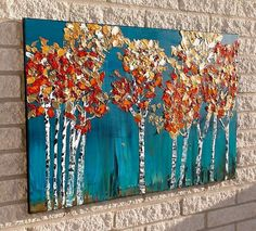 Landscape Painting Birch Tree Original Painting by Jillsfineart