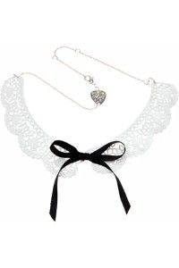 Lace Doily White Collar Necklace
