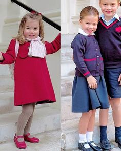 """ ❥ Princess Charlotte photographed on her first day at Willcocks Nursery School & on her first day at Thomas's Battersea School Duchess Kate, Duke And Duchess, Duchess Of Cambridge, Prince George Alexander Louis, Prince William And Catherine, Baby Prince, Prince And Princess, Kate Middleton Shoes, English Royal Family"