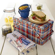 <3  Tips for Picnic Food I have this Beautiful Tin Picnic Basket~Handed down from my Grandmother~
