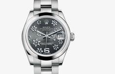 Datejust Lady 31 31MM, SS, jubilee bracelet, diamond bezel, SiW Flower Dial 178344