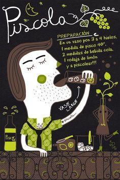 Piscola. Chile
