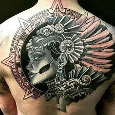 50 Symbolic Mayan Tattoo Designs – Fusing Ancient Art with Modern Tattoos 50 symbolische Maya Tattoo Aztec Tattoos Sleeve, Aztec Tattoo Designs, Tribal Shoulder Tattoos, Tribal Tattoos For Men, Tattoos For Guys, Chicano Tattoos, Marquesan Tattoos, Body Art Tattoos, Tatoos