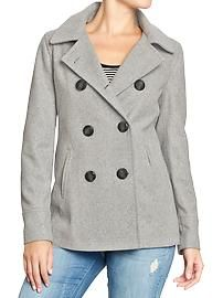 I already have a few peacoats but this one is pretty! I like it in all of the colors: Women's Classic Wool-Blend Peacoats from Old Navy Old Navy Pea Coat, Cute Coats, Old Navy Women, Maternity Wear, Fall Wardrobe, Curvy Fashion, Autumn Winter Fashion, Winter Outfits, Jackets For Women
