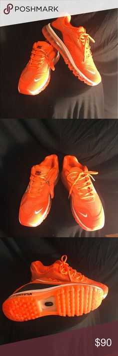 """$90 """"BRAND NEW"""" ORANGE 🍊 & BLACK AIR MAX FATHER'S DAY IS COMING SOON, GET YOUR ❤️😘😍 SOMETHING SPECIAL!!! Nike Shoes Athletic Shoes"""