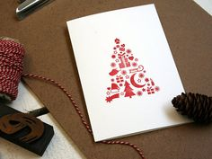 Oh Tannenbaum, oh Tannenbaum... for handprinted seasonal greetings, by smallcapsberlin $5.