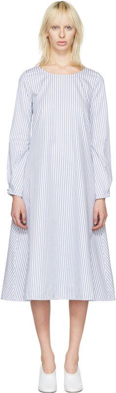 J.W.ANDERSON White Striped Front Detail Dress. #j.w.anderson #cloth #dress