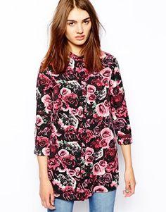 Vila Rose Print Longsleeve Shirt