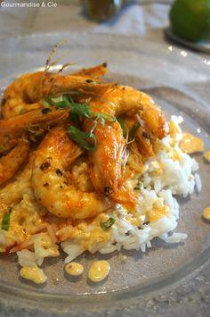 Recette facile de crevettes marinées au curry et citron vert Shrimp Recipes, Risotto, Meal Prep, Buffet, Food And Drink, Nutrition, Meals, Chicken, Cooking