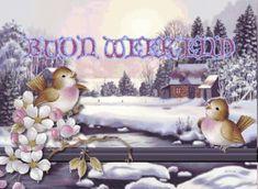 scritte buon weekend,glitter buon week end, immagini buon weekend, immagini invernali