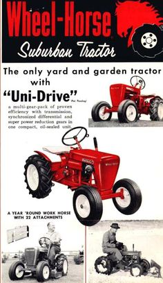 Wheel-Horse Suburban 'yard and garden' tractor ad
