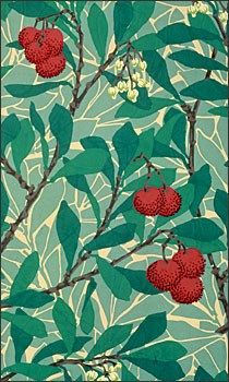 William Morris' Arbutus Notepad