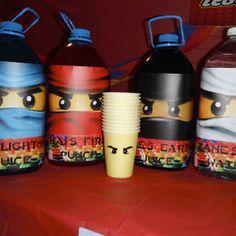 Hawaiian Punch Juice covered in ninja faces Teenage Boy Birthday, Ninja Birthday Parties, Birthday Party Themes, 8th Birthday, Birthday Ideas, Ninjago Party, Lego Ninjago, Lego For Kids, Isaiah 8