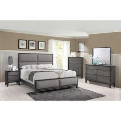 Invite a warm, contemporary style into your bedroom with the Florian Collection Queen Bedroom Set from Crown Mark. King Bedroom Sets, Bedding Master Bedroom, Queen Bedroom, Bedroom Decor, Master Bedrooms, Bedroom Ideas, Gray Bedroom, Italian Bedroom Furniture, Family Furniture