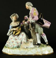 MEISSEN GROUP OF MUSICIANS : Lot 234