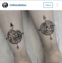 These are pretty sweet as a travel tattoo idea #tattoos #travel #kilroy