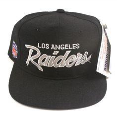 Vintage LA Raiders script snapback hat NWT Snapback Hats 2417c159a2d0