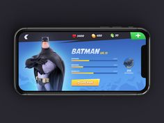 Game UI designed by Raphael Lopes. Connect with them on Dribbble; Ar Game, Game Gui, Game Icon, Zbrush Character, Game Character, Batman Cartoon, Space Games, Game Ui Design, Information Design