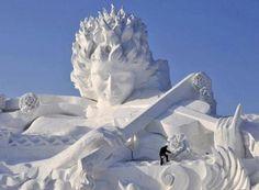 Unbelievable Snow Sculpture
