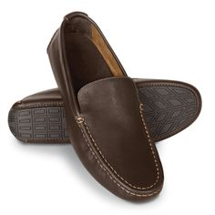 These are the moccasins that relieve pain caused by plantar fasciitis. The podiatrist-designed orthotic footbeds have deep heel cups and they stabilize and realign feet to a neutral position for those who over-pronate, a common cause of plantar fasciitis.