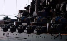 1/10 IJN Battleship Yamato Model @ Yamato Museum, Kure city, Hiroshima, Japan. 大和ミュージアム- 呉市海事歴史科学館, 広島県呉市宝町. #8F