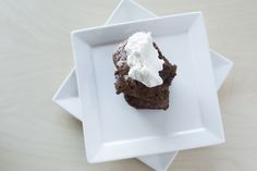 {Quick Milk Chocolate Pecan Brownie with Bourbon Whipped Cream} 35 Minutes