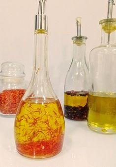 Aceite aromatizado con azafrán