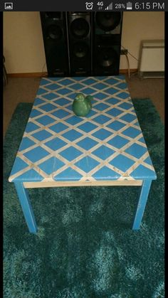 Playing around with my own furniture...my new coffee table