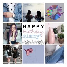 """HAPPY BDAY YESIM"" by for-your-eyesonly ❤ liked on Polyvore featuring art"
