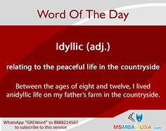 #greword #wordoftheday #gre Peaceful Life, Word Of The Day, New Words, My Father, How To Get, Learning, Word A Day, Studying, Study