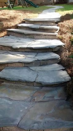 New Paver Patio Steps Front Porches Ideas Backyard Walkway, Garden Stairs, Front Walkway, Flagstone Patio, Backyard Landscaping, Deck Patio, Concrete Patio, Patio Table, Paver Sand