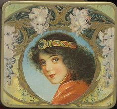 Art Nouveau tin box by Gatochy, via Flickr