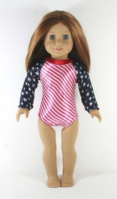 Trendy Dolls - Star and Stripes Gymnastic Leotard for 18 in American Girl Dolls, $9.50 (http://www.mytrendydoll.com/sports-outfits/star-and-stripes-gymnastic-leotard-for-18-in-american-girl-dolls/)