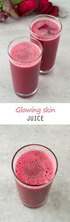 10 Amazing Juice Recipes For Healthy And Glowing Skin - Juicing and Smoothies Healthy Juice Recipes, Juicer Recipes, Healthy Juices, Detox Recipes, Healthy Smoothies, Healthy Drinks, Vegan Recipes, Jar Recipes, Ninja Recipes