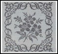 Schema all'uncinetto filet - Uno schema per creare uno splendido centrino fiorito