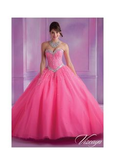 Quinceanera Dress  89012 Tulle Quinceanera Gown with Beading