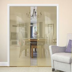 Our internal glass sliding doors are suitable for any internal locations but if fitting these to rooms such as bedrooms or bathrooms it probably goes without saying that its best to use frosted glass sliding doors. Doors, Glass, Furniture, Pocket Doors, House, Internal Glass Doors, Sliding Glass Door, Home Decor, Mirror