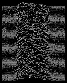 Joy Divison - Unknown Pleasures (click to view Tableau Public viz)