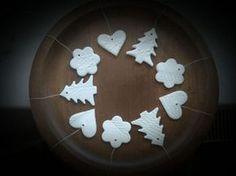 Postup na vianočné ozdoby z domáceho studeného porcelánu.