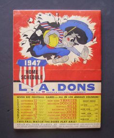 1947 LOS ANGELES DONS AAFC All-America Football Conference