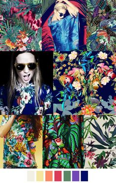 Copacabana - love deep rich colors and floral design tropical flora print м Trend Forecasting, Fashion Forecasting, 2016 Fashion Trends, 2015 Trends, Fashion Colours, Colorful Fashion, Color 2017, Summer 2016 Trends, Arte Fashion