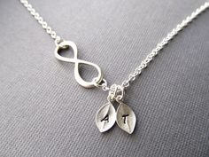 Personalized Infinity Necklace Initial Necklace Mom by IrinSkye,  Love this one too!