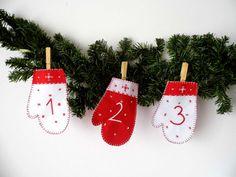 Felt Advent Calendar Handmade Christmas by MelindasSewingCorner Christmas Countdown, Christmas Time, Christmas Crafts, Christmas Decorations, Christmas Calendar, Christmas Ideas, Childrens Advent Calendar, Felt Advent Calendar, Etsy Handmade