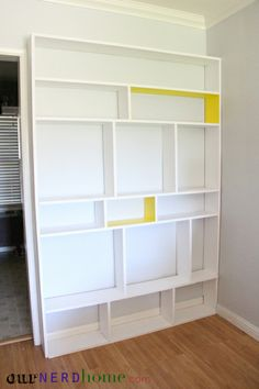 DIY Bookcase - Really easy, cheap, and customizable.