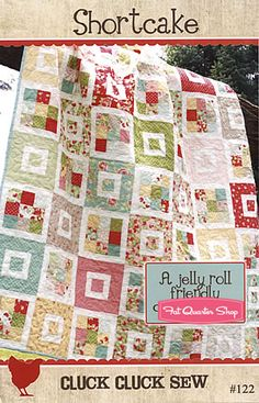 shortcake quilt by cluck cluck sew. Made a wallhanging from this pattern with Amy Butler fabrics-2011